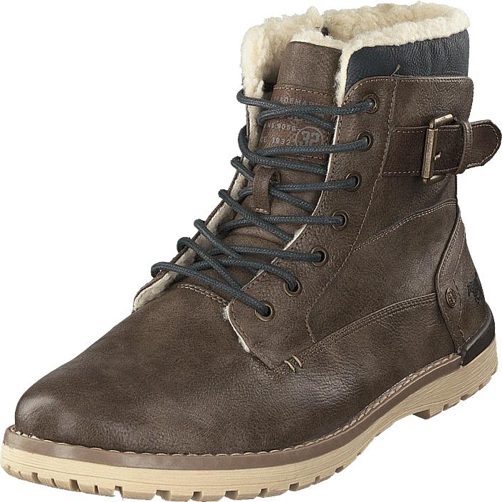 Mustang Herren-schnür-boot Kaffee, Kengät, Bootsit, Kengät, Ruskea, Miehet, 43