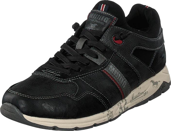 Mustang Schnürhalbschuh Stein, Kengät, Sneakerit ja urheilukengät, Sneakerit, Harmaa, Musta, Miehet, 42