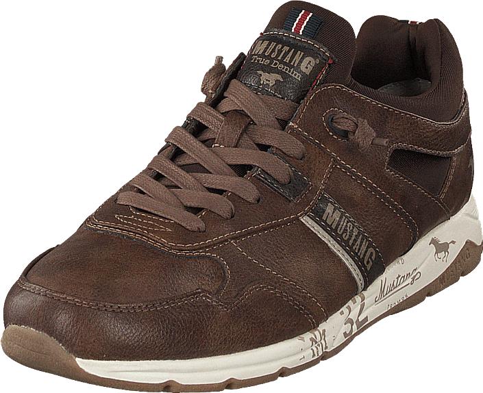 Mustang Schnürhalbschuh Mittelbraun, Kengät, Sneakerit ja urheilukengät, Sneakerit, Ruskea, Miehet, 41