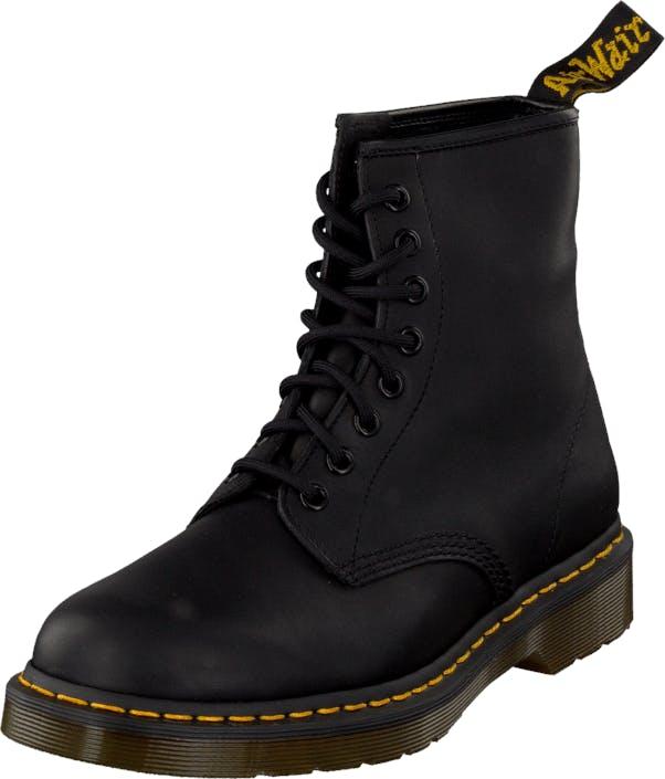 Image of Dr Martens 1460 Black Greasy, Kengät, Bootsit, Chelsea boots, Musta, Miehet, 47