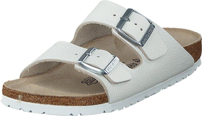 Birkenstock Arizona Slim Leather White, Kengät, Sandaalit ja Tohvelit, Sandaalit, Valkoinen, Naiset, 37