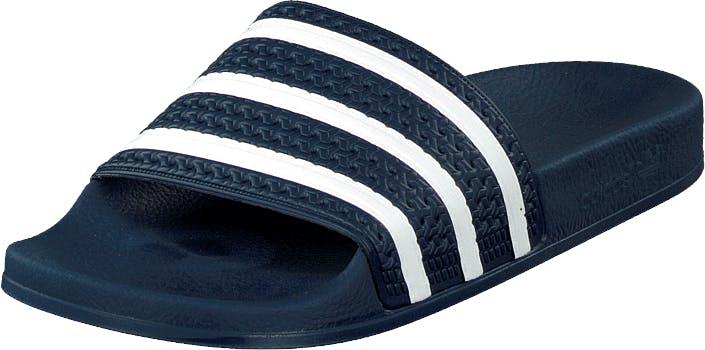 Image of Adidas Originals Adilette Adiblue/White/Adiblue, Kengät, Sandaalit ja tohvelit, Flip Flopit, Sininen, Unisex, 46