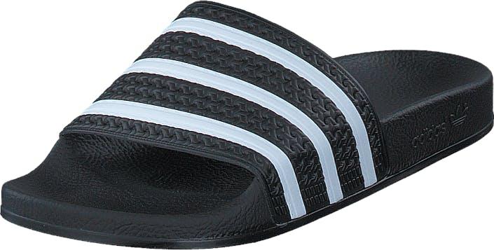 Image of Adidas Originals Adilette Black 1/White/Black 1, Kengät, Sandaalit ja tohvelit, Sandaalit, Musta, Unisex, 45