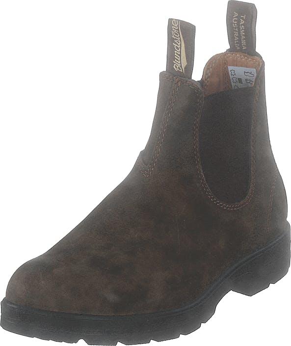 Blundstone 585 Rustic Brown, Kengät, Bootsit, Chelsea boots, Ruskea, Vihreä, Unisex, 43