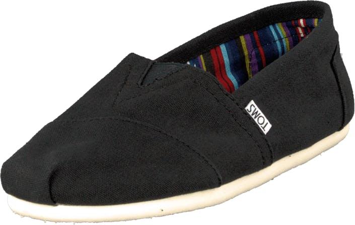 Toms Classics Men Black, Kengät, Matalat kengät, Slip on, Musta, Miehet, 44