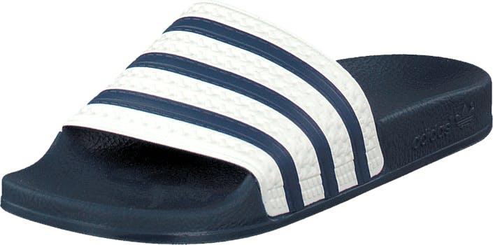 Image of Adidas Originals Adilette Slides Adiblue/White/Adiblue, Kengät, Sandaalit ja tohvelit, Sandaalit, Sininen, Unisex, 46
