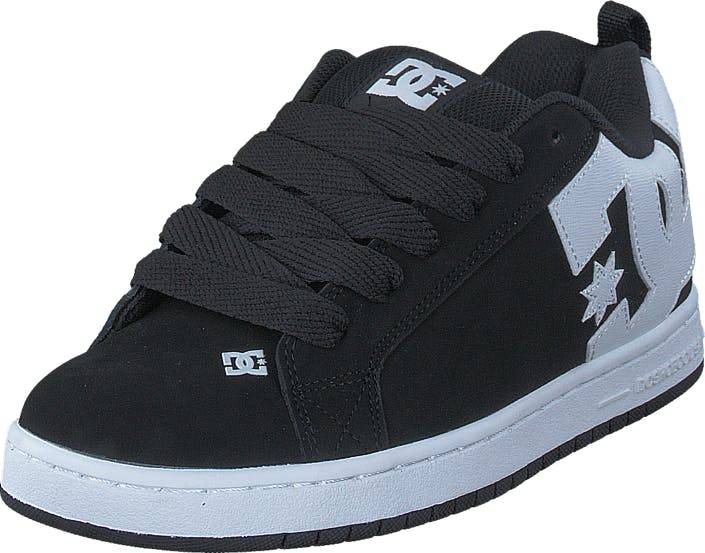 DCShoe Shoes Dc Court Graffik Shoe Black, Kengät, Tennarit ja Urheilukengät, Varrettomat tennarit, Musta, Unisex, 42