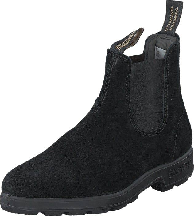 Blundstone 1455 Black Suede Black, Kengät, Bootsit, Chelsea boots, Musta, Unisex, 46