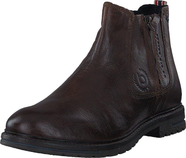 Bugatti 634532 Dark Brown, Kengät, Bootsit, Chelsea boots, Ruskea, Miehet, 40