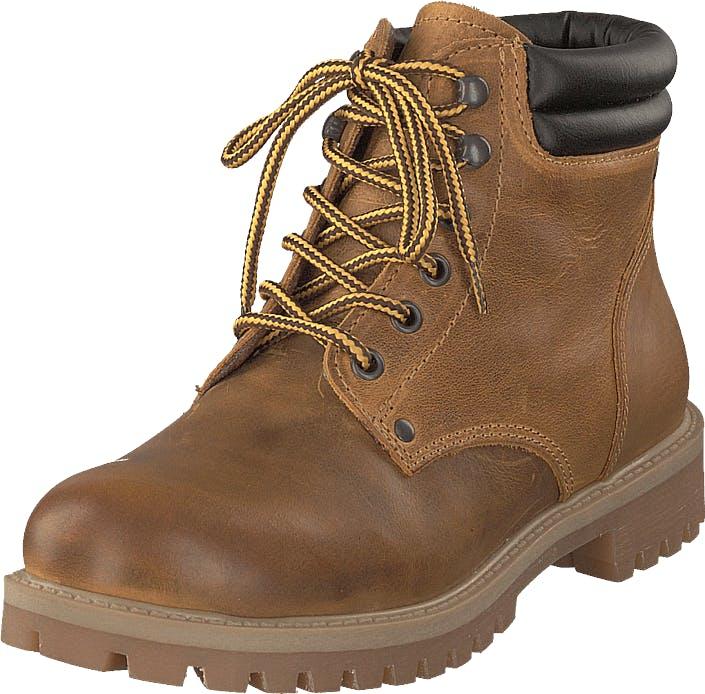 Jack & Jones Stoke Leather Honey, Kengät, Bootsit, Kengät, Ruskea, Miehet, 42