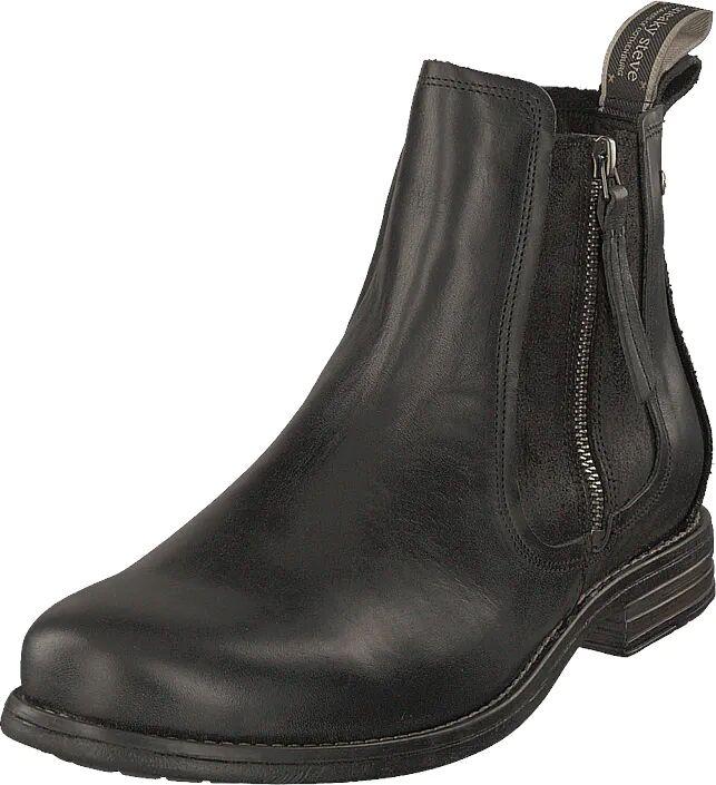 Sneaky Steve Concrete Black, Kengät, Bootsit, Chelsea boots, Harmaa, Musta, Miehet, 45