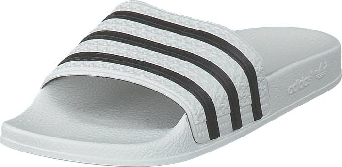 Image of Adidas Originals Adilette White/cblack/white, Kengät, Sandaalit ja tohvelit, Remmisandaalit, Valkoinen, Unisex, 45