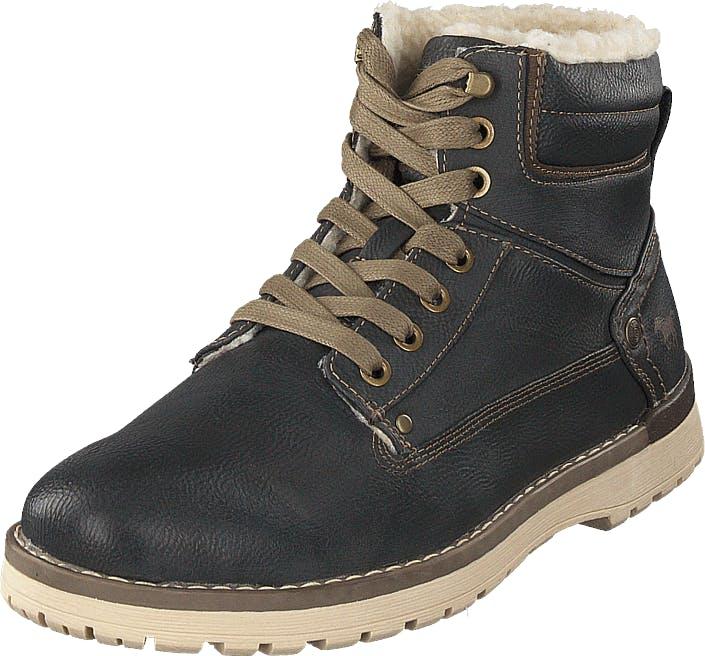 Mustang Schnür-boot Graphit, Kengät, Bootsit, Kengät, Harmaa, Miehet, 44