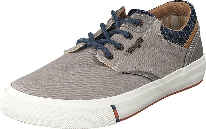 Wrangler Icon Low Grey, Kengät, Matalat kengät, Kangaskengät, Harmaa, Miehet, 45