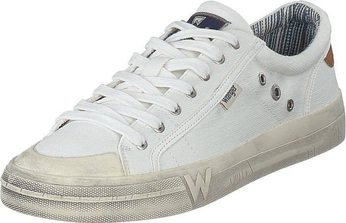 Wrangler Sniper Low White, Kengät, Sneakerit ja urheilukengät, Varrettomat tennarit, Valkoinen, Miehet, 41