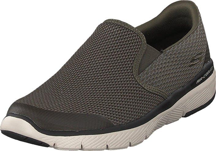 Skechers Flex Advantage 3.0 Olv, Kengät, Matalat kengät, Slip on, Harmaa, Miehet, 42