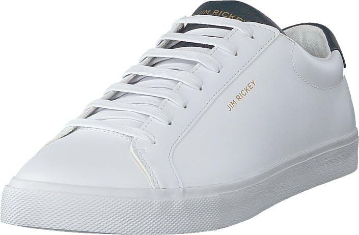Jim Rickey Chop - Leather White/navy, Kengät, Sneakerit ja urheilukengät, Varrettomat tennarit, Valkoinen, Miehet, 43