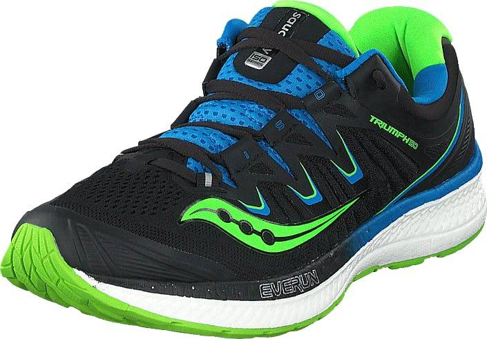 Saucony Triumph Iso 4 Black/slime/blue, Kengät, Sneakerit ja urheilukengät, Urheilukengät, Musta, Miehet, 40