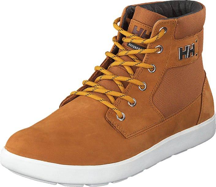 Image of Helly Hansen Stockholm 2 Honey Wheat/cashew/off White, Kengät, Sneakerit ja urheilukengät, Korkeavartiset tennarit, Ruskea, Oranssi, Miehet, 45