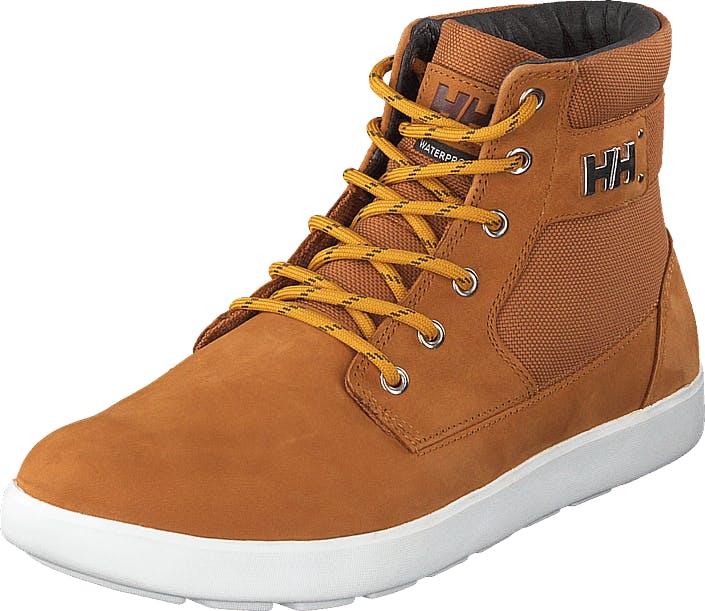 Image of Helly Hansen Stockholm 2 Honey Wheat/cashew/off White, Kengät, Sneakerit ja urheilukengät, Korkeavartiset tennarit, Ruskea, Oranssi, Miehet, 44