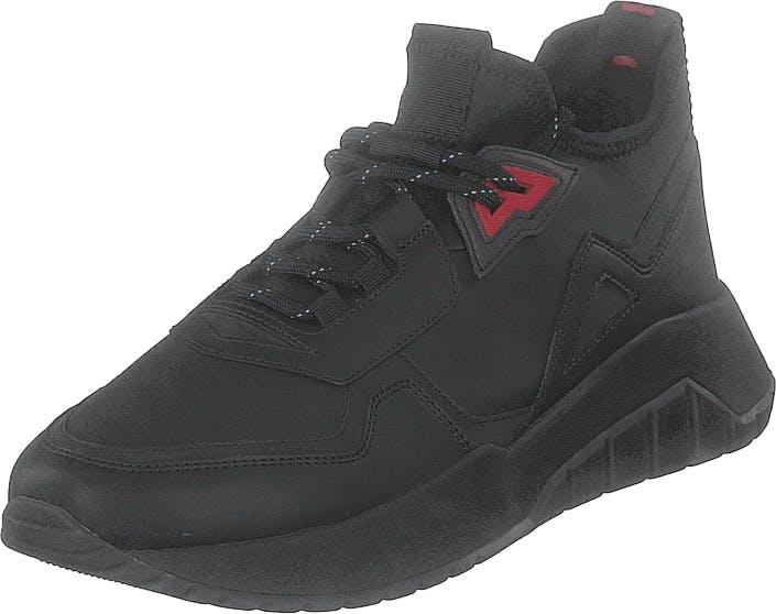 Hugo Boss Hugo - Hugo Boss Atom_runn_txst Black, Kengät, Sneakerit ja urheilukengät, Tennarit, Musta, Miehet, 43