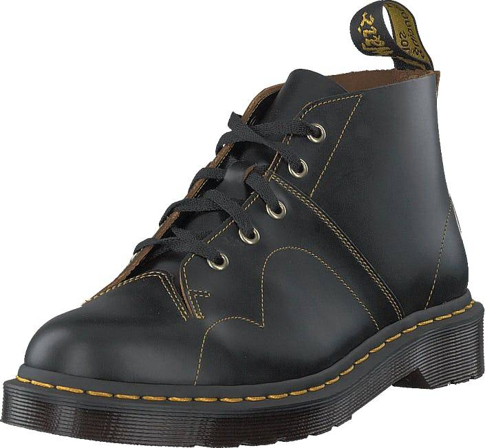 Image of Dr Martens Church Black, Kengät, Bootsit, Chukka boots, Musta, Harmaa, Unisex, 40