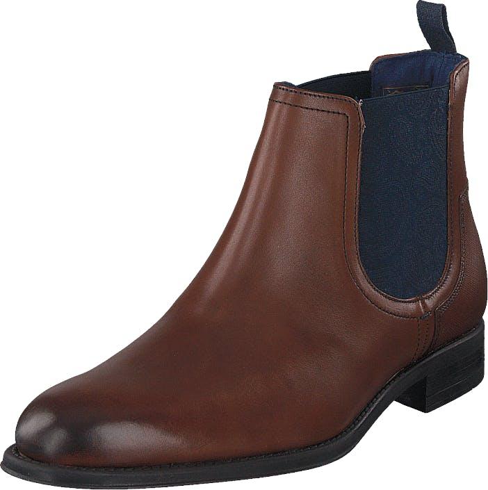 Ted Baker Travic Brown Leather, Kengät, Bootsit, Chelsea boots, Ruskea, Miehet, 40
