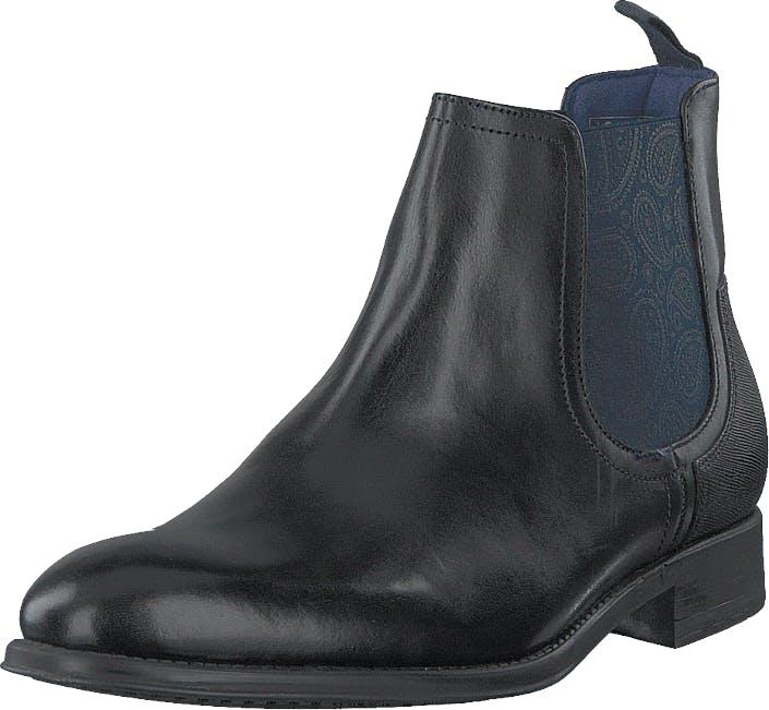 Ted Baker Travic Black Leather, Kengät, Bootsit, Chelsea boots, Musta, Miehet, 43
