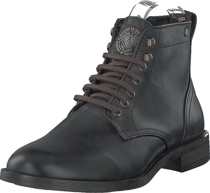 Sneaky Steve Solitude Black, Kengät, Bootsit, Kengät, Musta, Miehet, 40
