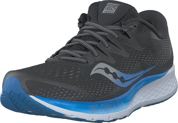 Saucony Ride Iso 2 Black / Blue, Kengät, Sneakerit ja urheilukengät, Urheilukengät, Harmaa, Miehet, 49