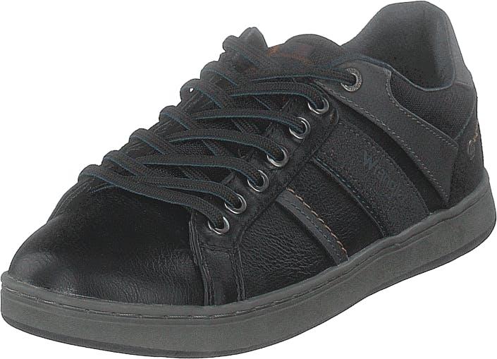 Wrangler Marshall Paso Black, Kengät, Sneakerit ja urheilukengät, Sneakerit, Musta, Miehet, 43