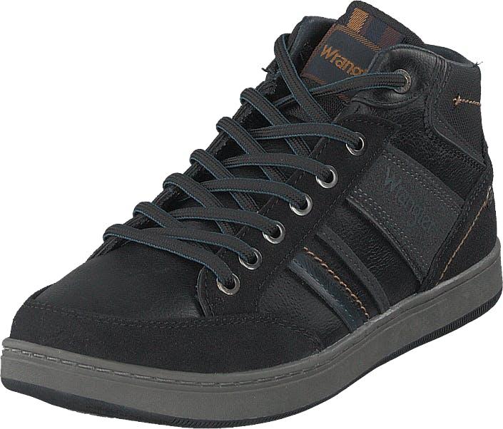 Wrangler Marshall Paso Mid Black, Kengät, Sneakerit ja urheilukengät, Korkeavartiset tennarit, Musta, Miehet, 43