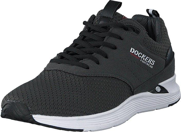 Dockers by Gerli 44bc001-782220 Dark Grey, Kengät, Sneakerit ja urheilukengät, Urheilukengät, Musta, Miehet, 42
