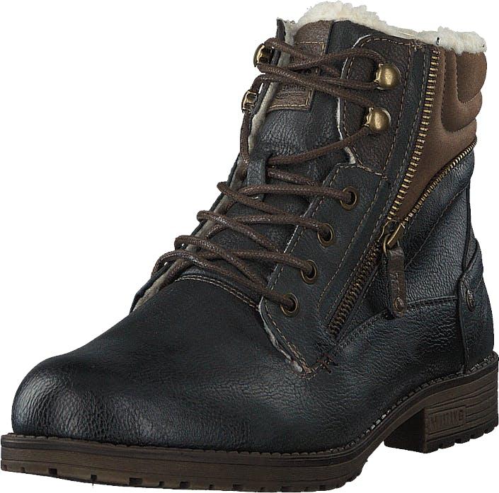 Mustang 4119604 Graphit, Kengät, Bootsit, Kengät, Musta, Ruskea, Miehet, 44