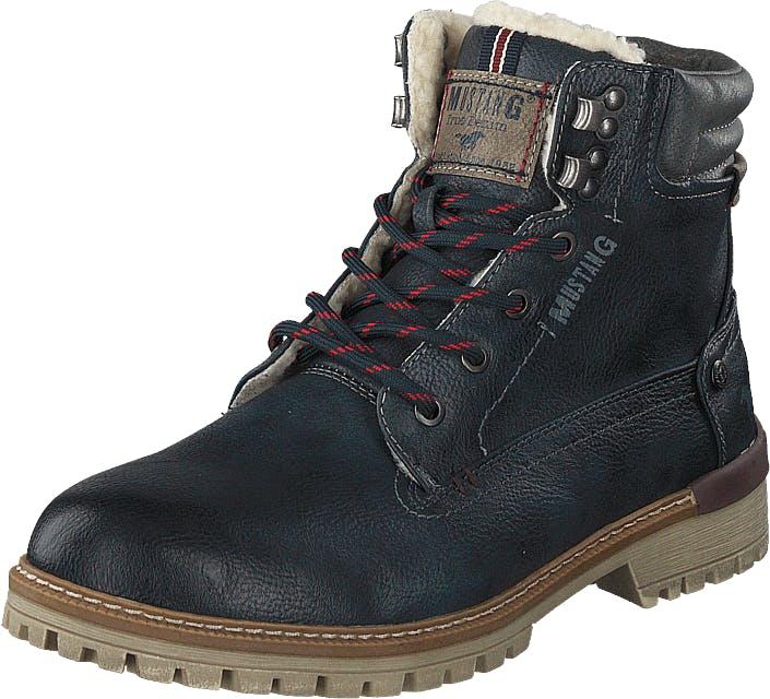 Mustang 4142602 Navy, Kengät, Bootsit, Kengät, Sininen, Harmaa, Miehet, 44