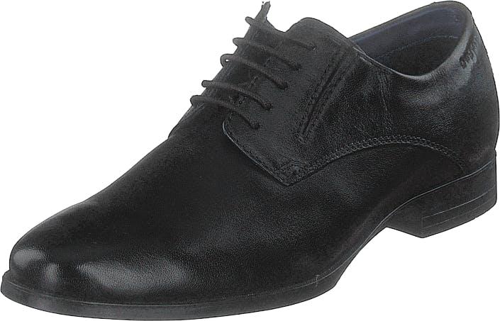 Bugatti Zenobio Black, Kengät, Matalapohjaiset kengät, Juhlakengät, Musta, Miehet, 42