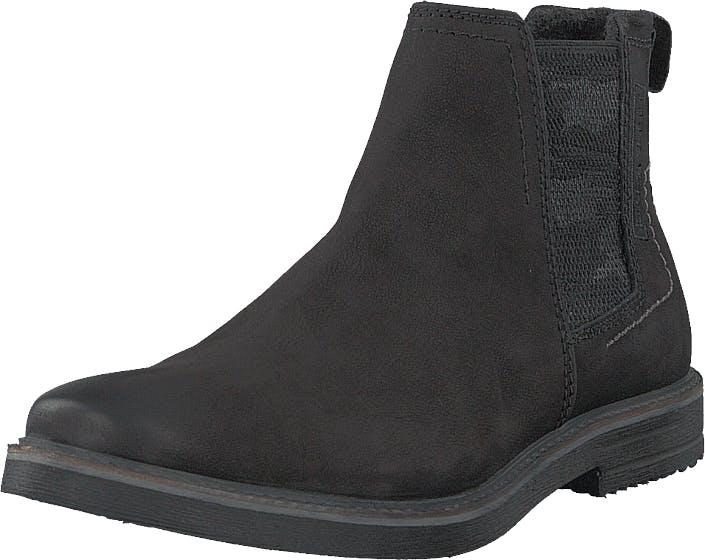 Bugatti Vando Black, Kengät, Bootsit, Chelsea boots, Musta, Miehet, 44