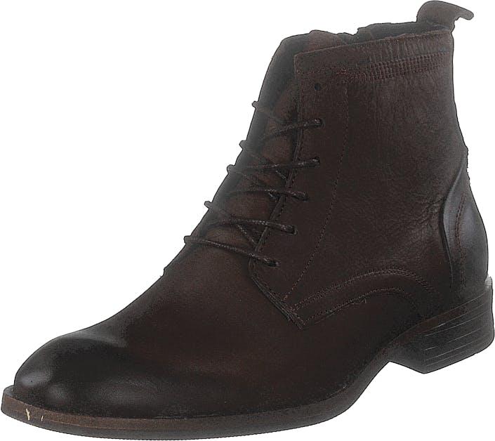 Bianco Biabyron Leather Lace Up Boot Dark Brown, Kengät, Bootsit, Chelsea boots, Ruskea, Miehet, 40