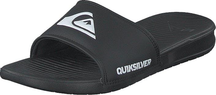 Quiksilver Bright Coast Slide Black/white/black, Kengät, Sandaalit ja Tohvelit, Sandaalit, Musta, Miehet, 42