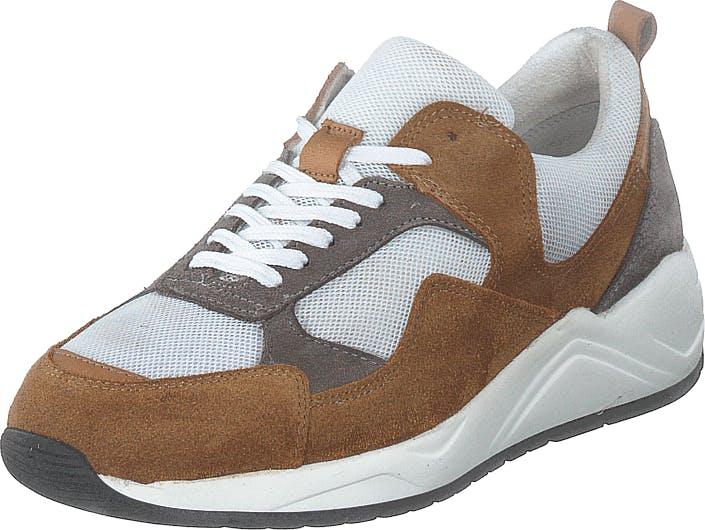 Bianco Biadakota Suede Sneaker 221 Medium Brown, Kengät, Tennarit ja Urheilukengät, Sneakerit, Ruskea, Harmaa, Miehet, 44