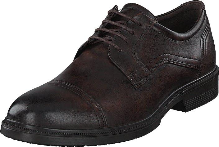 Ecco Lisbon Cocoa Brown, Kengät, Matalapohjaiset kengät, Juhlakengät, Harmaa, Miehet, 43