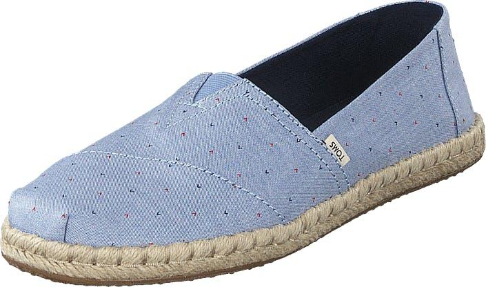 Toms Blu Motif Woven Wm Alpr Esp Ss Blue, Kengät, Matalat kengät, Slip on, Sininen, Naiset, 36