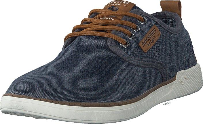 Dockers by Gerli 44sv009 Blue, Kengät, Matalat kengät, Slip on, Sininen, Harmaa, Miehet, 45