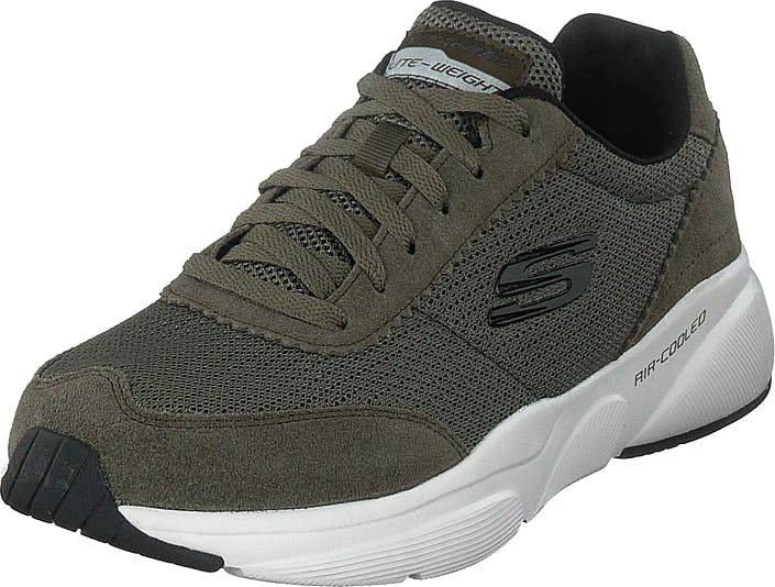 Skechers Mens  Meridian Olv, Kengät, Sneakerit ja urheilukengät, Sneakerit, Harmaa, Miehet, 43