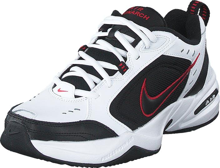 Nike Air Monarch White/black-varsity Red, Kengät, Tennarit ja Urheilukengät, Sneakerit, Punainen, Miehet, 42