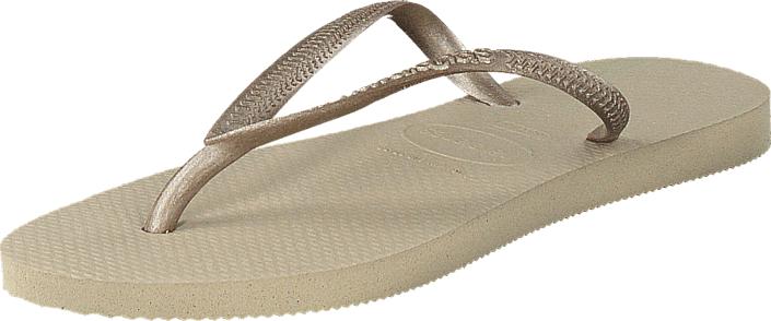 Havaianas Slim Sand Grey/Light Golden, Kengät, Sandaalit ja tohvelit, Flip Flopit, Beige, Naiset, 35