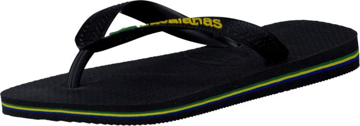 Havaianas Kids Brasil Logo Black, Kengät, Sandaalit ja tohvelit, Flip Flopit, Musta, Unisex, 27