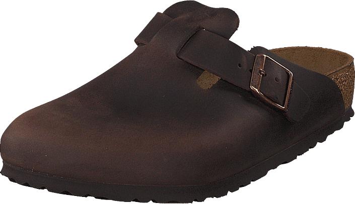 Birkenstock Boston Regular Habana Oiled Leather, Kengät, Sandaalit ja tohvelit, Tohvelit, Ruskea, Unisex, 42