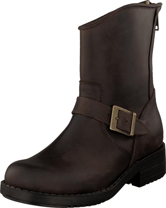 Johnny Bulls Low Boot Zip Back Brown/Gold, Kengät, Bootsit, Korkeavartiset bootsit, Ruskea, Naiset, 35