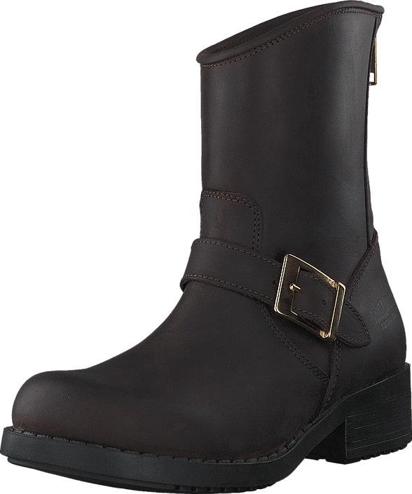 Johnny Bulls Low Boot Zip Back Brown/Shiny Gold, Kengät, Bootsit, Korkeavartiset bootsit, Sininen, Naiset, 36